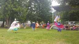Jackson Pow Wow Dancers celebrating Aboriginal Day in Sicamous