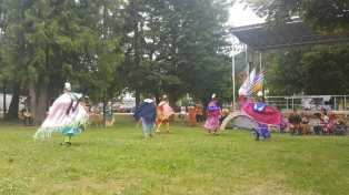 Jackson Pow Wow Dancers celebrating Aboriginal Day in Sicamous