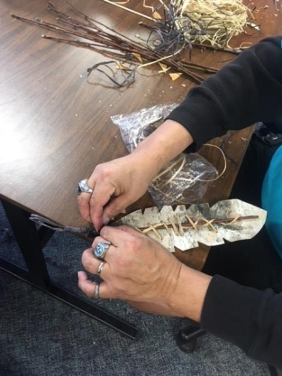 Birch Bark Feathers at SMS