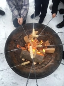 Bannock on a stick at SMS