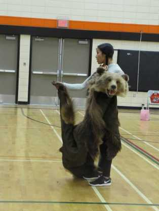 Laura Grizzleypaws presents at Shuswap Middle School