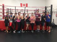 Sullivan students at Bulldog Boxing